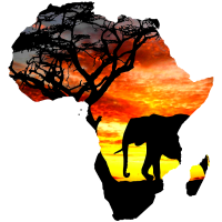 Afrika liebe -Karte