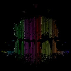rainbowtown / Natur Regenbogen Stadt Baum