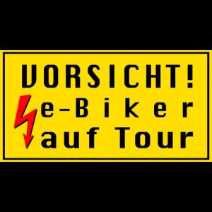 e-Biker auf Tour