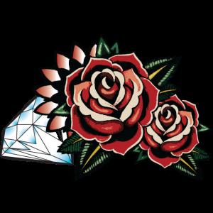 OldSchool Roses & Diamant