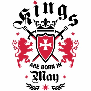 05 Kings are born in May Lions Crown Cross