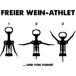 Freier Wein-Athlet