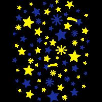 Sternenhimmel Chaos Logo Sternschnuppe Symbole