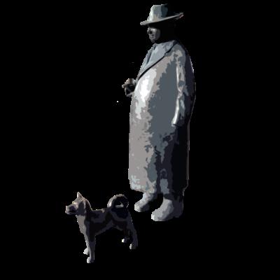 Onkel Willi Lüdenscheid - Nachgezeichnete Figur von einer Statue die in Lüdenscheid steht. Onkel Willi ist sowas wie der Botschafter von Lüdenscheid. - willy,willi,luedenscheid,Stadt,Spitz,Onkel,Lüdenscheid,Hund,Figur,Felix