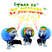 three little RASTA birds