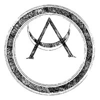 Mystic Motiv mit Sonne und Kreis geometrisch