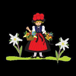 Alpine Kirsche Mädchen