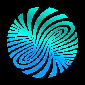 psychedelic Optik Illusion Türkis optical Art 60er