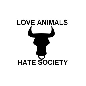 LOGO LOVE ANIMALS HATE SOCIETY
