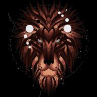 Geometrische Lion (Brown)