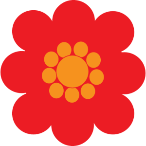 Rote Blume Retro