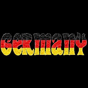 Deutschland-Flagge Kristall