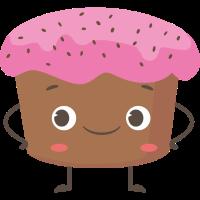 Muffin mit Gesicht