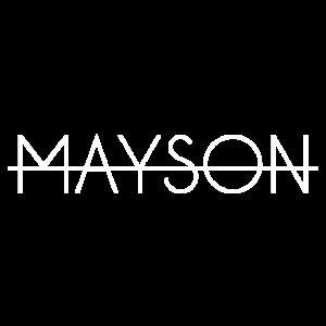 Mayson Schriftzug weiß