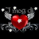 Herz mit Edelweiss
