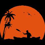 Kanu Kajak paddeln Kanuten Sonne Palmen Sport