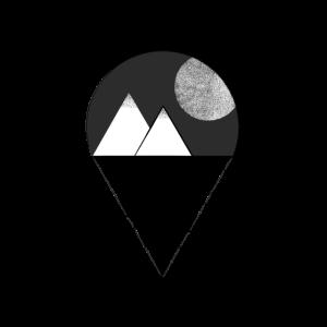 Mond in den Bergen