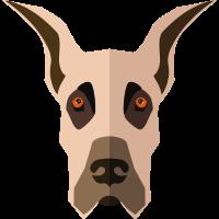 Tiere vectorstock 5433709 Hundegesicht 001