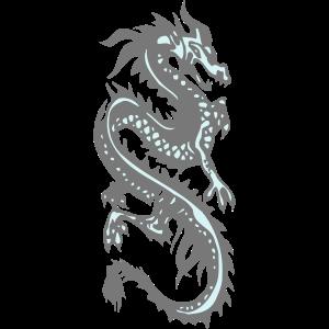 Chinesischer blauer Drache