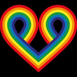 Regenbogenband Herz