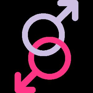 Doppelte männliche Zeichen