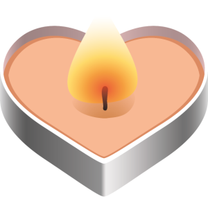 Brennende Herz-Kerzenlicht