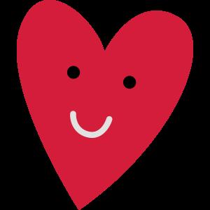 Lächelndes Herz