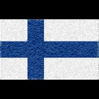 Finnland-Flagge Kristall