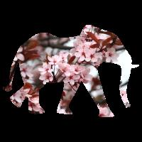 Elefant Blumensilhouette