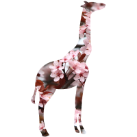 Giraffe Blumensilhouette