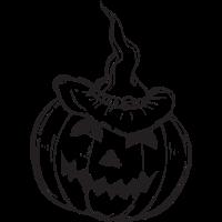 Halloween Kürbis Hexen Hut