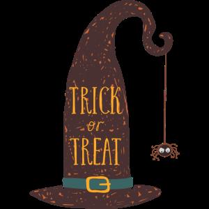 Halloween-Einladung Hexehut
