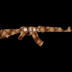 ak 47 sturmgewehr waffe geschenkidee