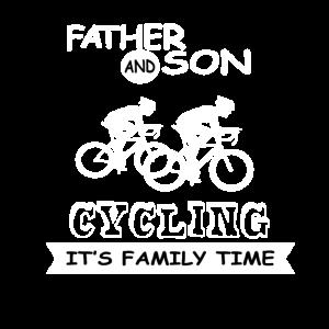 Vater und Sohn - Radfahren