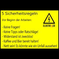 5 Sicherheitsregeln Elektriker lustig