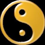 Yin Yang Symbol Gold