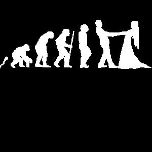 Heiraten Evolution Fun Shirt