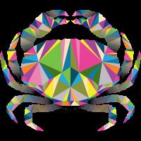 Geometrische Krabbe