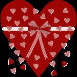 Rood hart, strepen en strik_132