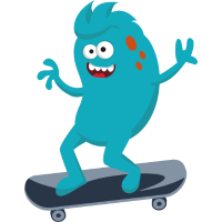 Sport vectorstock 10376269 Monster Skateboarding S