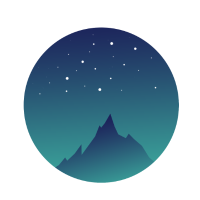 Mountain Night Sky
