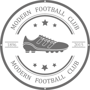 Modernes Fußballclub-Logo