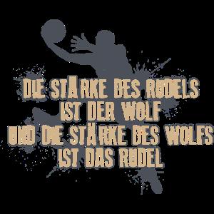 Die Staerke des Rudels ist der Wolf - BasketballHu