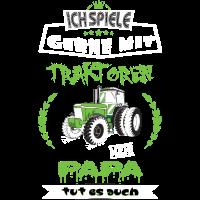 Landwirt Papa mit Traktor Vater Geschenk Tshirt