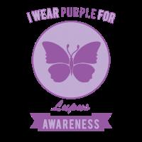 Ich trage Lila für Lupus Bewusstsein