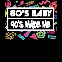 Achtzigerjahre Baby 90's machte mich