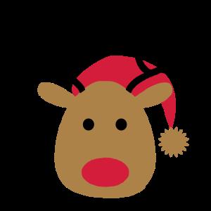Lustiges Design von einem Elch zu Weihnachten