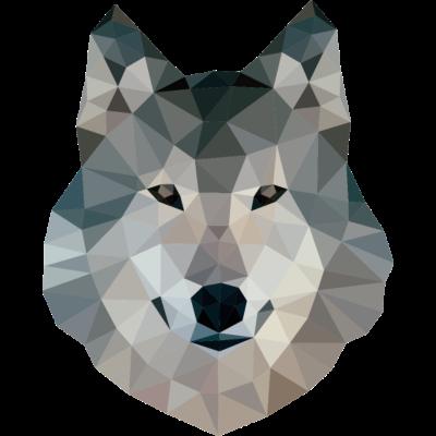 Polygonaler Wolf - Ein stylischer polygonaler Wolf - Wölfe,Wolve,Wolfsburg,Wolfpack,Wolf,Tier,Polygonaler,Polygonal,Poly,Hipster,Grauer,Alpha,Alfatier