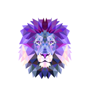 lion lila Löwe King Mandala Yoga Hypnose Kopf leo