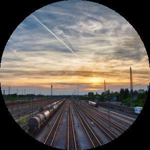 Nürnberg, Sonnenuntergang, Bahnhof, Fernsehturm